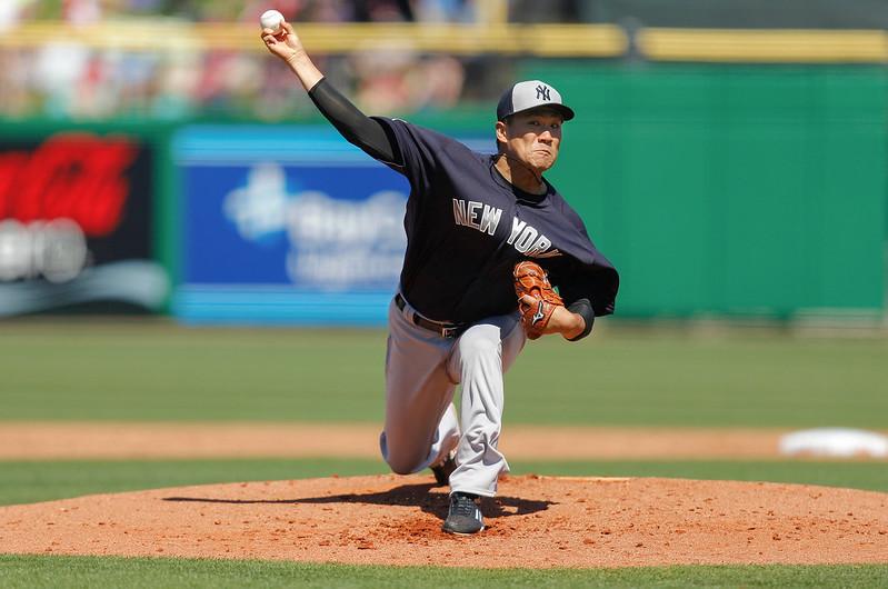 田中將大將生涯第4次擔任洋基開幕戰先發投手。(達志影像資料照)