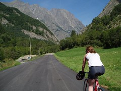 Helen cycling through the Ecrins Image