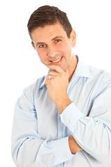Lächender,gutaussehender Mann mittleren Alters-Portrait