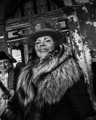 Venise carnaval n/b