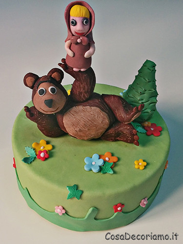 Torte - 60 - Torta Masha e Orso