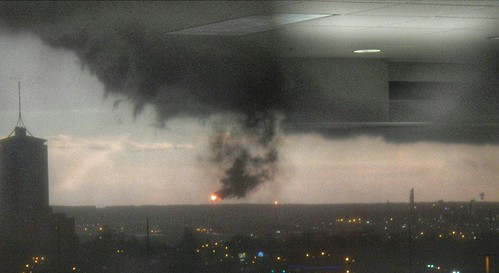 #Storm is causing problems at Holly Refinery #tornadowarning #oklahomaweather  #MyOklahoma #Tulsa