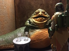 chevy2who has added a photo to the pool:Fett: Solo is in docking bay 94. Jabba: Good lets go pay him a visit, bounty hunter. Fett: one more thing Greedo has gone to get him. Jabba: Hohoho Hahaha! Let's go see what happens.