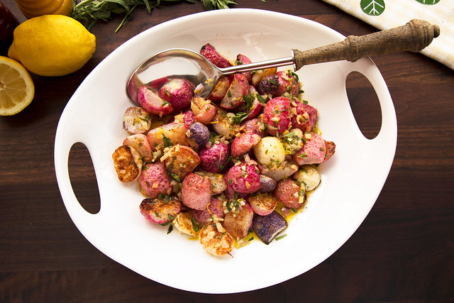 Roasted Radishes with Tarragon Vinaigrette