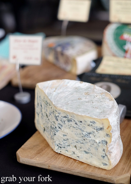 Bleu d'Auvergne French blue cheese at Le Marche Francais at City Market, Wellington