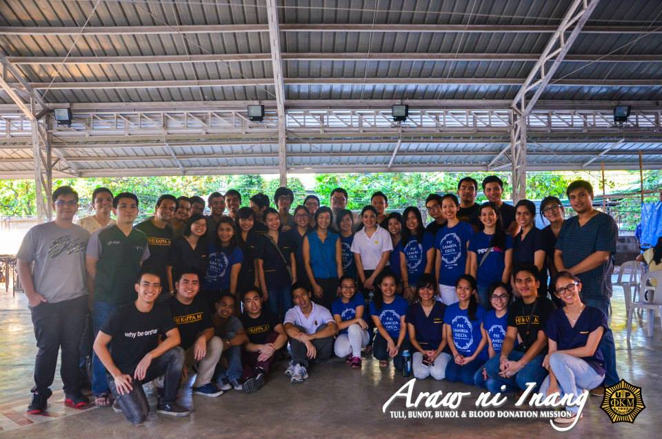 Brod JP with the Phi brods, sisses, and volunteers of the recent Araw ni Inang, held last April 25, 2015