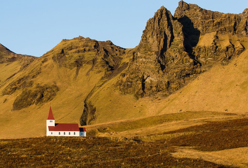 Vik in Iceland, the Church on the hill