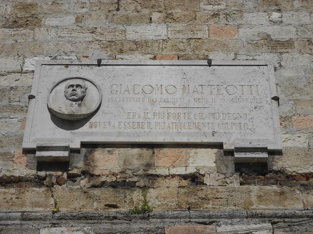 lapide a Giacomo Matteotti, Narni
