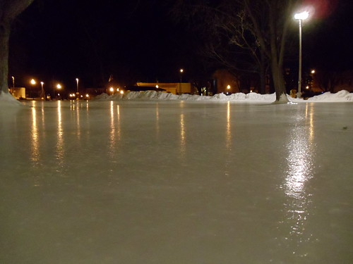 Outdoor Ice Skating Rink in Commons Park,