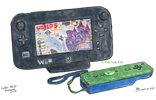 My son's Wii U gamepad