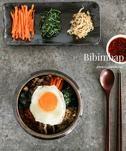 [Korean Recipes] Bibimbap – Korean Mixed Rice with Meat and Assorted Vegetables