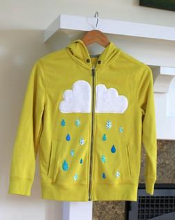 Little Girl Presents-Rain Cloud Sweatshirt