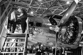 B-17 Yankee Lady Polishing Party