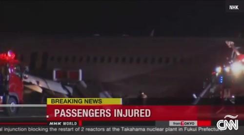 Avión de Asiana Airlines se sale de la pista, deja 23 heridos