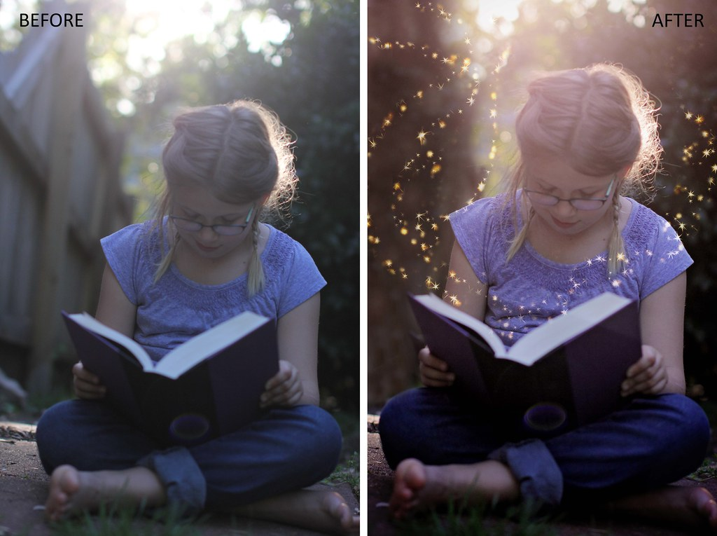 Lucy Reading Before + After