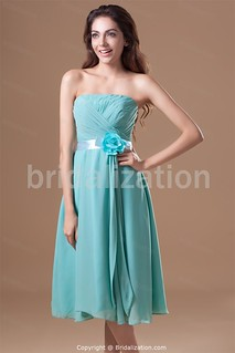 Pool Blue/ Robin Blue Date Dresses Tea-Length Special Occasion Dresses
