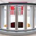 Red behind bars by Maerten Prins