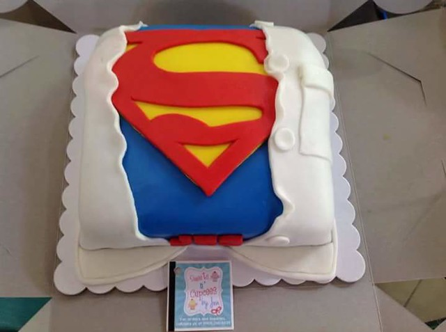 Superman Cake by Sweets n' Cupcees by Jen