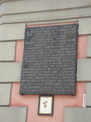 Photo of Teresio Olivelli bronze plaque