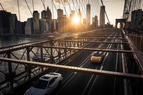 Yellow Taxi on the Brooklyn Bridge from Toni Hoffmann