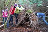 Shelter Building in Cabin Woods near Cricceith