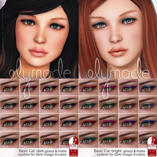 basic cat eyeliner for Slink Visage