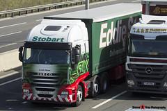 Iveco Ecostralis 6x2 - PX12 AZB - H2970 - Lynda Dawn - Eddie Stobart - M1 J10 Luton, Bedfordshire - Steven Gray - IMG_8734