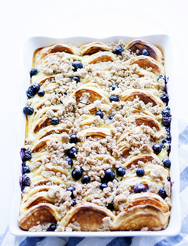 Lemon-ricotta Overnight Pancake Casserole with Blueberries | Easy Pancake Casserole Recipes