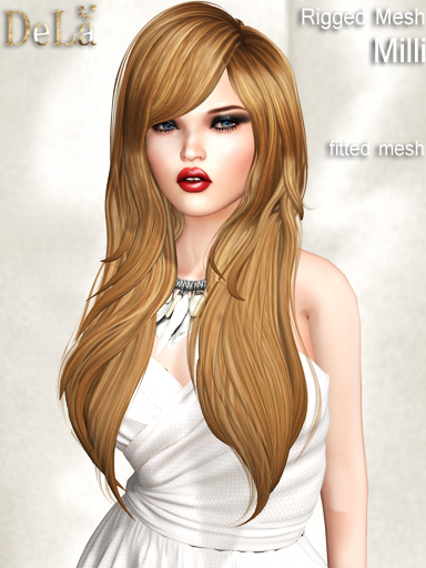 "=DeLa*= Fitted Mesh Hair ""Milli"""