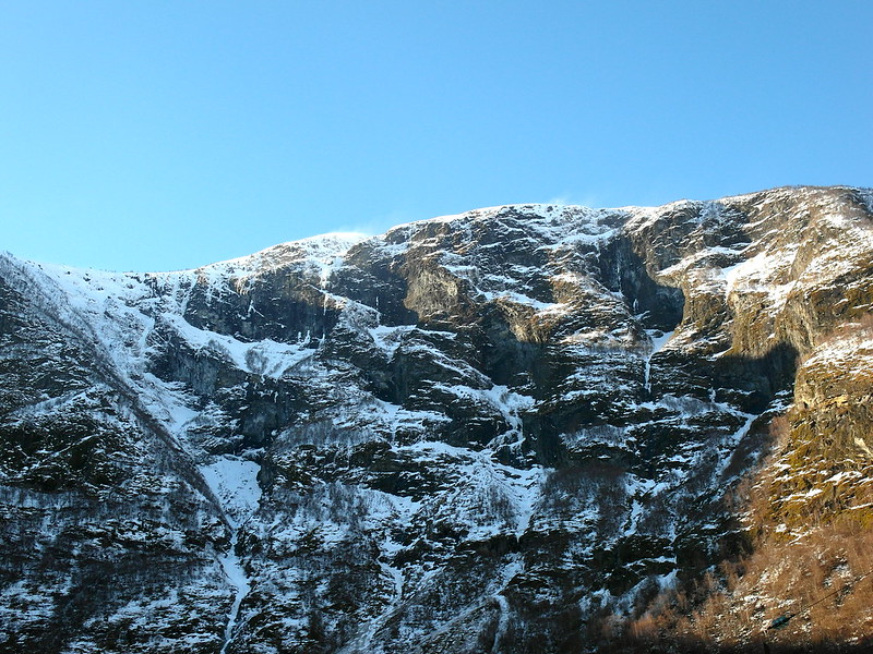Snow-capped mountain, Bergen