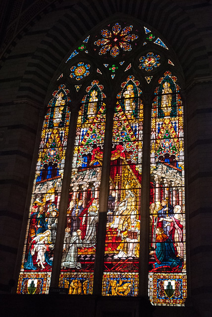 Gigantic stained glass