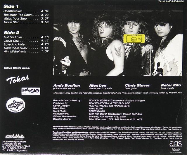 "Andy Boulton Tokyo Blade - Ain't Misbehavin' NWOBHM 12"" Vinyl LP"