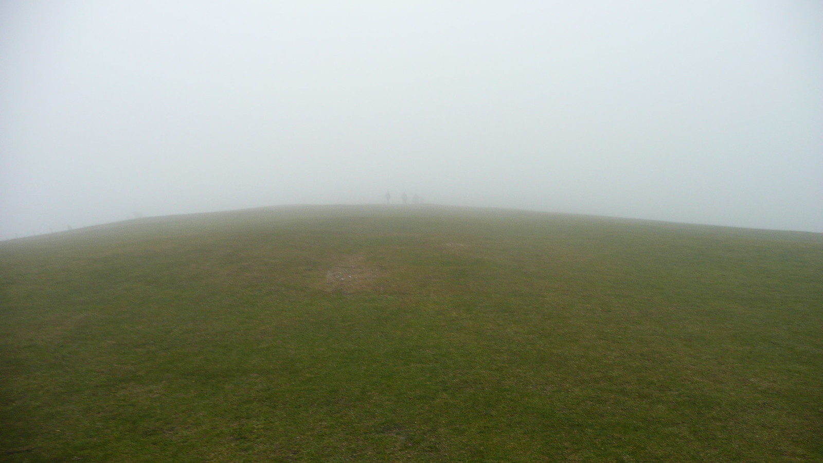 A shot of the group in the distance Views of the South Downs (28th March 2015, low cloud, gales)