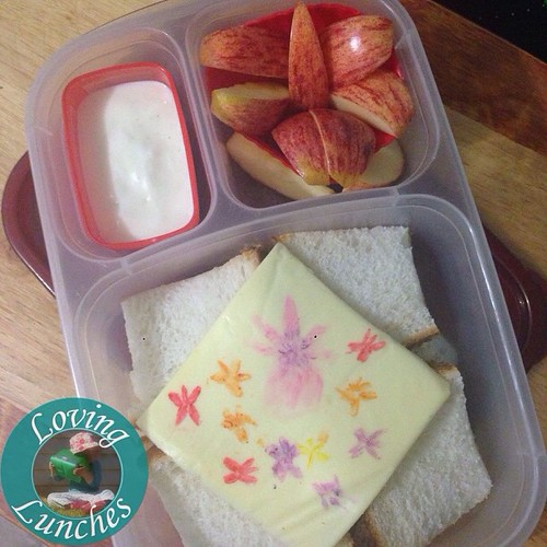 Loving this little apple #orchid from today's lunch… in our @easylunchboxes #easylunchboxes