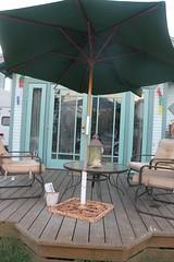 backyard, umbrella, outdoor structure,