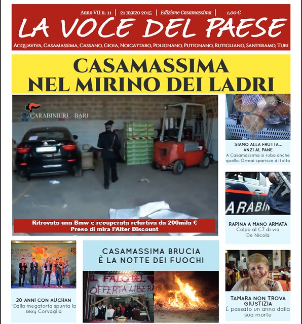 casamassima copertina 21 marzo 2015