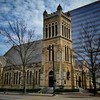 The Cathedral Church of the Advent is located in downtown Birmingham, AL and was completed in 1893. It was built on the site of a former wooden frame church that was built in 1873. The great old architecture contrasts well with the modern buildings around