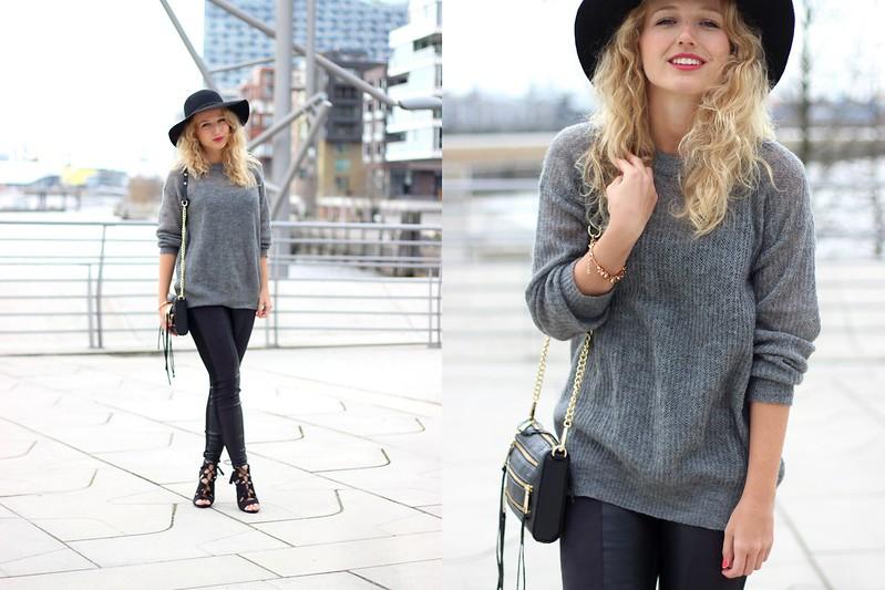 Black Grey Heels