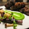 Spring Menu! Grilled Lamb Chops, Roasted Baby Vegetables, Black Olive Crumbs   @mercerkitchen #springfood #lambchops #sweeetpeas #babyveg #blackolive by clbeischer
