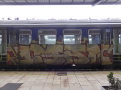 Zagreb train graffiti