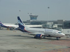 NordAvia Boeing 737-500 at Moscow Sheremetyevo Airport, terminal D