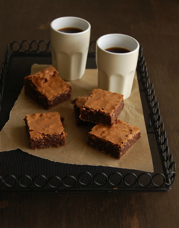 Amaranth brownies / Brownies com amaranto