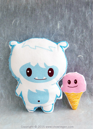 Plush Little Yeti and Ice Cream Buddy