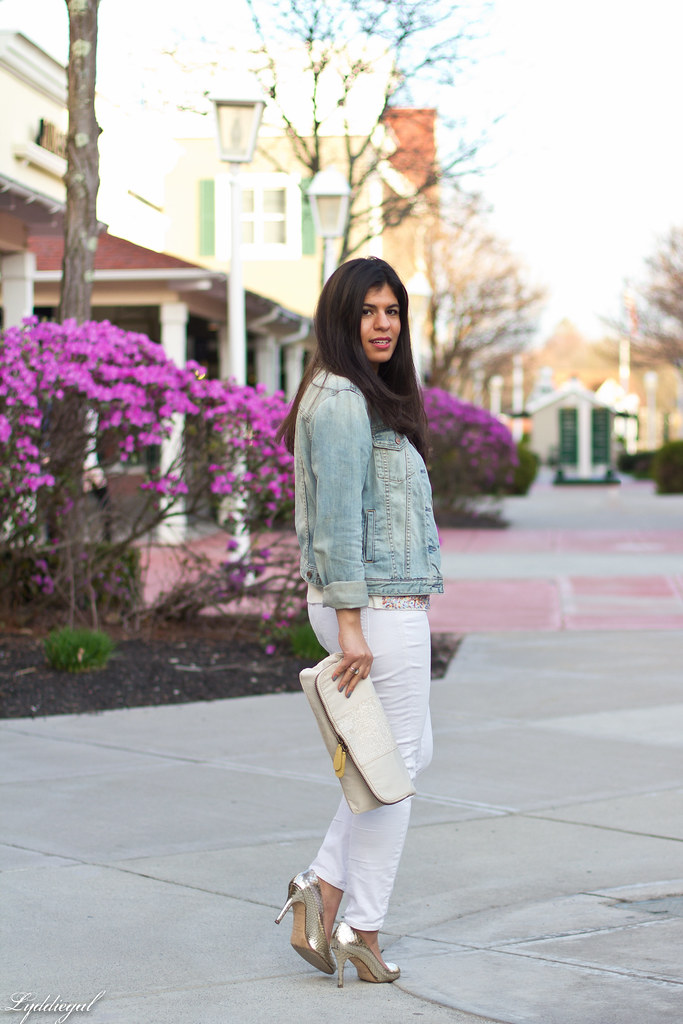sequined tee, white jeans, denim jacket, silver pumps-1.jpg