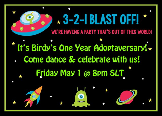 Birdy's Space Party Invitation!