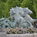 Horses in the fountain - Place des Quinconces by Monceau