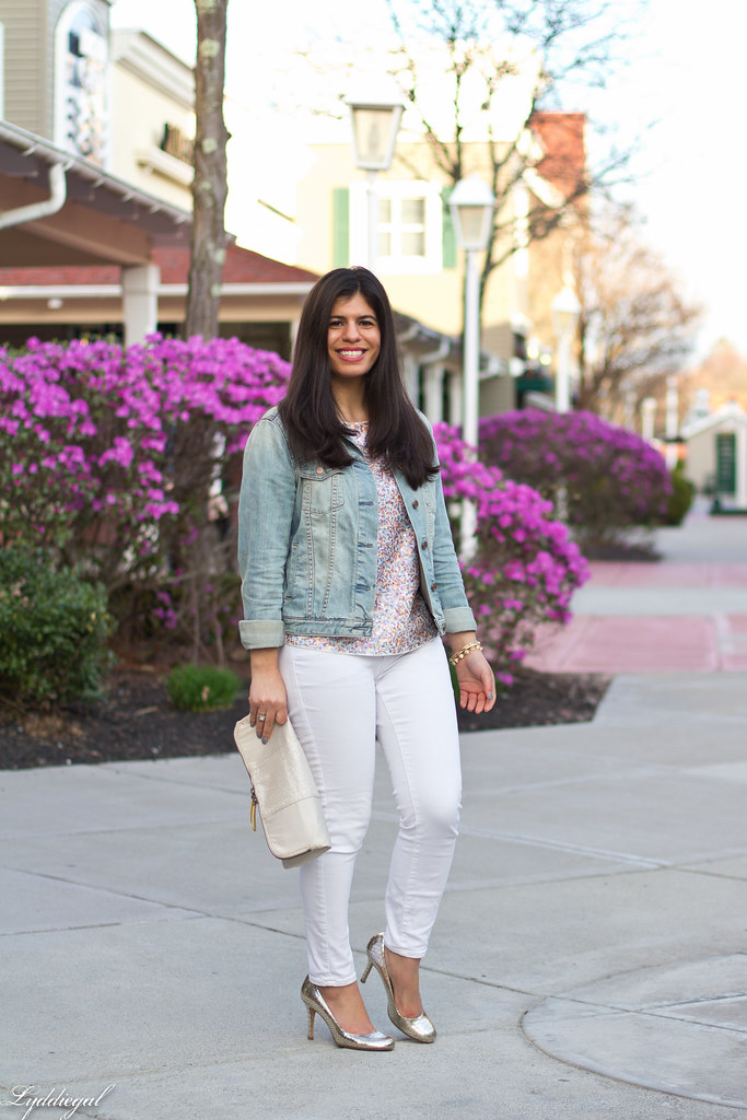 sequined tee, white jeans, denim jacket, silver pumps-2.jpg