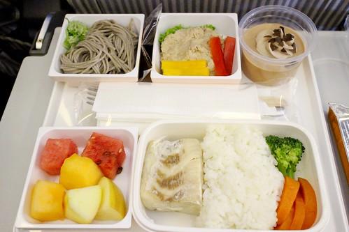 JAL。海鮮飛機餐。桃園到大阪