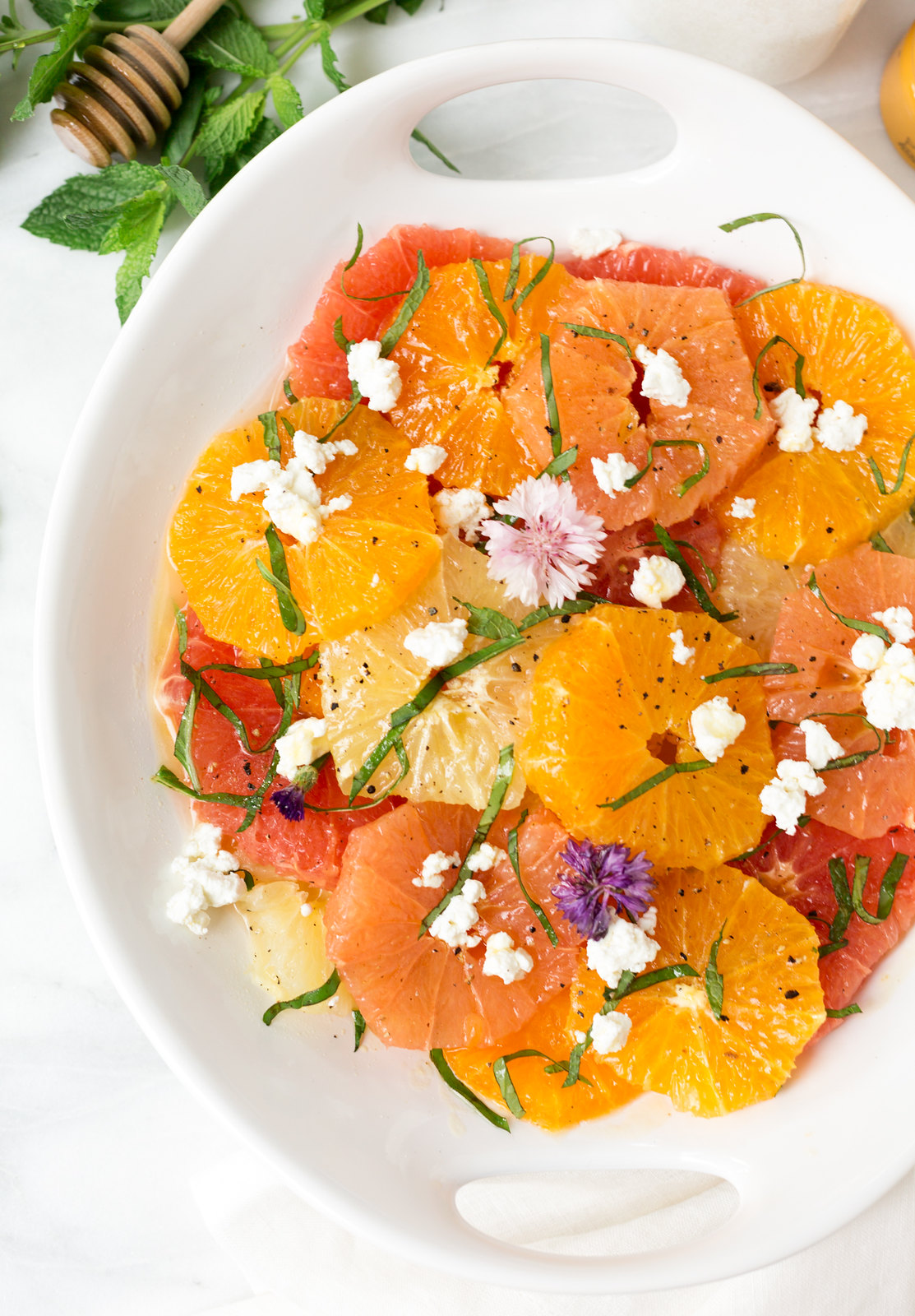 Mixed Citrus Salad with honey balsamic vinaigrette
