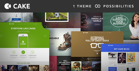 Cake 1.5 Responsive Multi-Purpose WordPress Theme